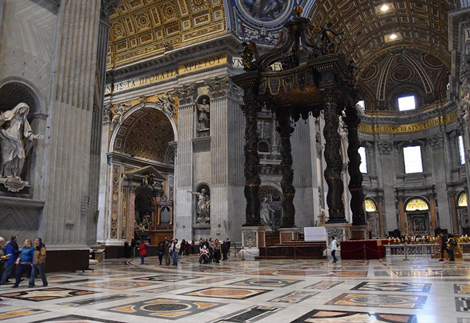 De Sint Pietersbasiliek in Rome