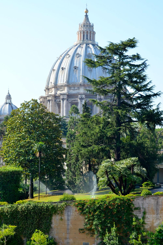 De Vaticaanse tuinen in Vaticaanstad
